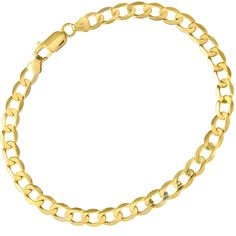 Citerna 9 ct Yellow Gold 7.4 g Curb Bracelet of 22 cm/8.5 Inch Length and 6 mm Width