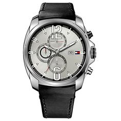 Tommy Hilfiger Mens 1790833 Sport Stainless Steel and black strap with Multifunction dial Watch ** Click on the image for additional details. (This is an Amazon affiliate link)