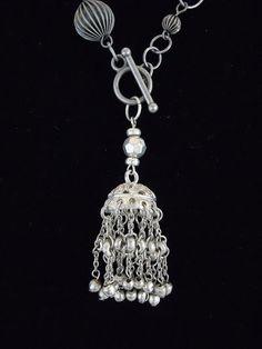 Beaded Metal Tassel Necklace by Debbie Renee by DebbieRenee, $39.00