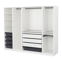 Best Ideas For Ikea Pax Closet System 10 Years Ikea Pax Closet, Ikea Pax Wardrobe, Wardrobe Storage, Bedroom Closet Design, Closet Designs, Bedroom Storage, Bedroom Furniture, Home Furniture, Ikea Bedroom