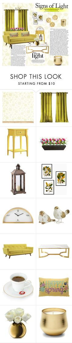 """Signs of Light"" by anninad ❤ liked on Polyvore featuring interior, interiors, interior design, home, home decor, interior decorating, Kensie, Inspire Q, Improvements and Tiffany & Co."