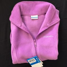 Columbia fleece vest Warm fleece vest from Columbia. Size small in a pretty violet color. Zippered hand pockets. New with tags. Color/look is accurate in the first pic (lighting is a little off in the other pics). Columbia Jackets & Coats Vests