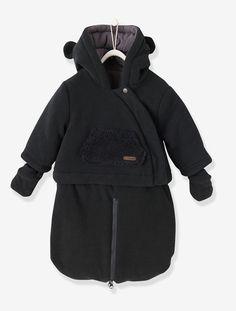 Combi-pilote bébé 3 en 1 maille polaire Noir+Parme grisé - vertbaudet enfant