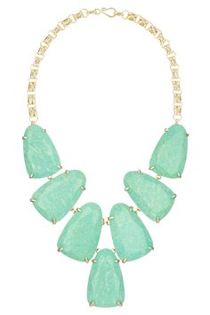 Kendra Scott: Harlow Necklace in Gold (Spring Stone Necklace, Stone Jewelry, Gold Jewelry, Jewelery, Women Jewelry, Gold Necklace, Kendra Scott Necklace, Turquoise And Purple, Turquoise Necklace