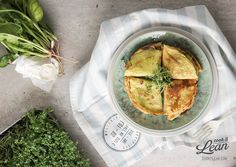 coconut crepes with spinach and goat cheese