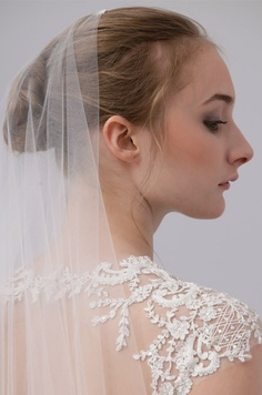 A #wedding veil from Monique Lhuillier, Spring 2013. See more bridal fashion & beauty: http://ccwed.me/KIp6ZC