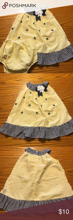 For your little bumble bee Adorable bumble bee dress for infants with diaper cover Rare Editions Dresses Casual
