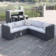 5-Piece Patio Sectional Furniture Seating Indoor Outdoor Portfolio Sofa Relax #Portfolio