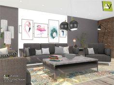 Fleek Living Room by ArtVitalex  for The Sims 4