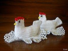 Handmade by Ecola & Dana Art - Wielkanocne kurki Crochet Toys, Knit Crochet, Crochet Chicken, Diy And Crafts, Crochet Earrings, Knitting, Handmade, Spring, Craft Ideas