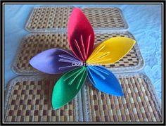 Easy flower paper craft - Craftionary