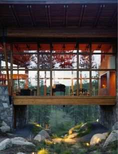 Wow this glass-forest house is amazing