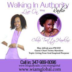 Chari Twitty-Hawkins Author of Living Your God Inspired Purpose