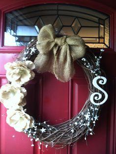 Simple Monogram Wreath