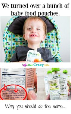 We turned over a bunch of baby food pouches and were shocked at what we saw. Why you should do the same and how to get a $10 gift card. #SproutBaby #ad