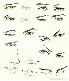 Anime boy face tutorial | © to artist