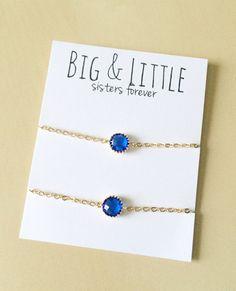 Big Little Sorority, Blue Bracelet Set, Sorority Gifts Dainty Jewelry