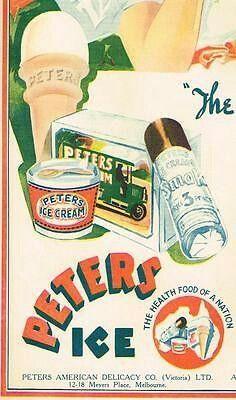 Peters Ice Cream ~ Australia 1936.