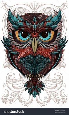 wise owl. Vector