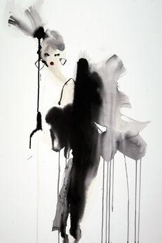 "Saatchi Art Artist Bridget Davies Art; Painting, ""Gabrielle"" #art"