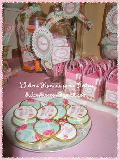 """Dulces Kioscos para Fiestas"" : Cumple Shabby Chic de Emma Shabi Chic, Cumpleaños Shabby Chic, Shabby Chic Birthday, Baby Shower, Table Decorations, Amelia, Chocolate, Home Decor, Ideas"