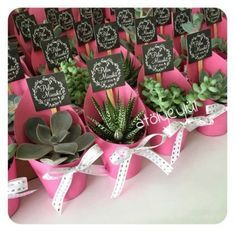 Wedding Gifts 9 Pink Favors for February Weddings - Finding and sharing the very best wedding inspiration from Bridal Make-up ,Wedding Hairstyles, real wedding photos to rustic wedding and DIY wedding ideas Succulent Wedding Favors, Wedding Favours, Diy Wedding, Wedding Gifts, Rustic Wedding, Wedding Photos, Wedding Ideas, Wedding Plants, February Wedding