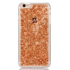 Luxury Rose Gold Glitter Flakes Case For iPhone 6 6s, 6 6s Plus