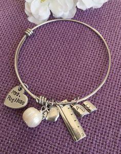 Teacher Bracelet  Teacher Gift  Personalized by DesignsByTeraW