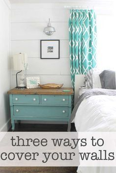 three ways to cover walls.... the neat lady lives in a double wide and has super cool decorating ideas for refinishing floors & walls.
