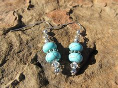One of a Kind Turquoise Blue Howlite and by NaturesRandMDesign