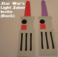 Running away? I'll help you pack.: Star War's Party ... Light Saber Invites