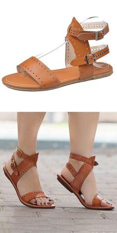 71f72beb5b7 Large Size Open Toe Roman Beach Flat Sandals  largesizewomensshoes   largewomenspurse Zapatos De Moda