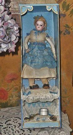 Antique Bisque Poupee in Original Presentation Box - WhenDreamsComeTrue #dollshopsunited