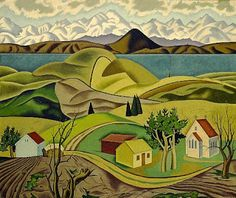 ART and ARCHITECTURE, mainly: Inter-war landscapes: amazing international comparisons Auckland Art Gallery, Thinking In Pictures, Central Otago, New Zealand Art, Nz Art, Maori Art, Art And Architecture, Landscape Paintings, Folk Art