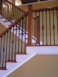 wrought iron banister - the first renovation in the new house.
