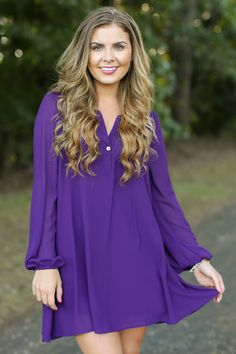 Go Out In Style Purple Tunic Dress at reddressboutique.com