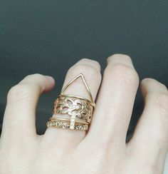 stack with 14KT gold klaia ring by Odette NY, via Flickr