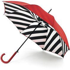 LULU GUINNESS Diagonal Stripe Bloomsbury Umbrella ($65) ❤ liked on Polyvore