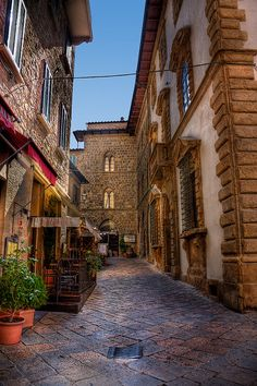 Back alley in Volterra, Tuscany