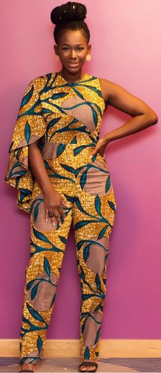 Ama k abebrese in african print jumpsuit, African fashion, Ankara, kitenge, African women … – African Fashion Dresses - 2019 Trends African Dresses For Women, African Attire, African Fashion Dresses, African Wear, African Women, Ankara Fashion, African Inspired Fashion, African Print Fashion, Africa Fashion