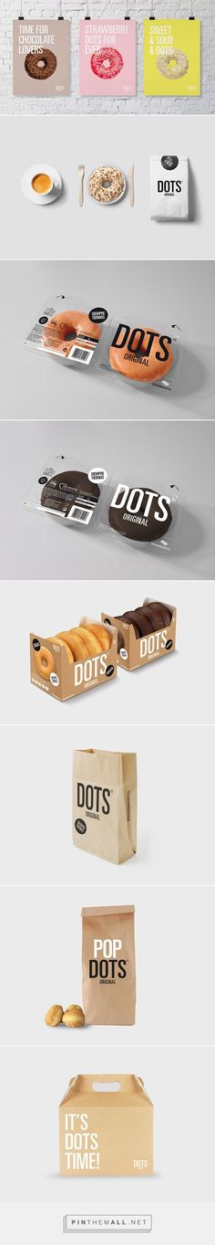 Dots doughnut branding and #packaging design. Pop Dots too!