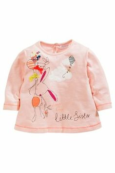 Buy Pink Bunny Little Sister T-Shirt (0-18mths) from the Next UK online shop