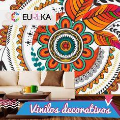 Decora tu hogar de una forma original y distinta con nuestros vinilos decorativos. Eureka, ¡más diseño, más alegría! Tel. 325 5278 / 314 790 8139 Pereira