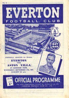 Everton v Aston Villa 1947-48 match programme