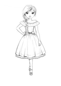 Vogue Coloring Book | Country style dress outline by funandcake on DeviantArt