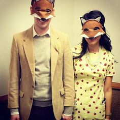 Get dapper with your significant other and pay homage to Wes Anderson's most adorable animated couple.  Source: Instagram user beckieswalker