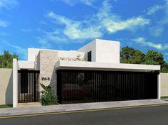 Fachadas de casas modernas con cantera buscar con google - Casas de una planta modernas ...