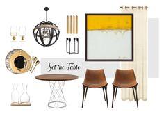Set the table by kelschiao on Polyvore featuring interior, interiors, interior design, home, home decor, interior decorating, Modloft, LSA International, Juliska and Normann Copenhagen