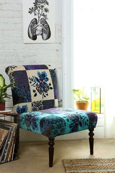 Magical Thinking Patchwork Floral Chair #urbanoutfitters