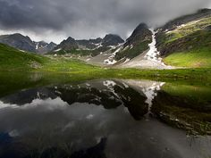 Lake in Riale, Piedmont, Italy